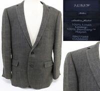J.Crew Ludlow Jacket Men's $350 Sport Coat Size 44L 100% Linen Tan Herringbone