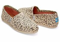 TOMS Natural Bobcat Gold With Foil Women Classics Shoes. Style: 10009715