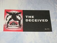 THE DECEIVED  CHICK CHRISTIAN/ GOSPEL TRACT  1990   JACK CHICK PUBLICATIONS