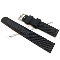 Seiko 5 - SNK809K2 - 7S26-02J0 - Comp. 18mm Black Nylon Knit Watch Band Strap