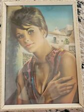 JH Lynch Rare Farewell vintage original print framed Shabner Tretchikoff MCM 60