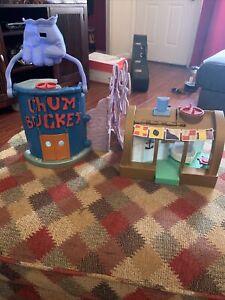 2012 Spongebob Squarepants Chum Bucket Playset Krusty Krab Mattel
