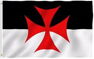 Lakeshore Trade 3x5 Ft Knights Templar Battle Flag - Roman Catholic Church Flag