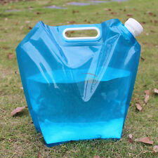 5L PE Soft Collapsible  Emergency Water Storage Container Carrier Bag Blue SR