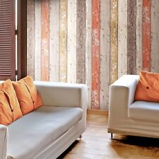 Orange Brown Wood Panel Wallpaper New England Rustic Wooden Planks 8951-27