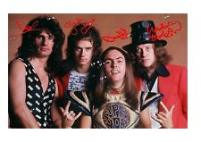More details for slade 3 a4 signed mounted photograph poster choice of frame