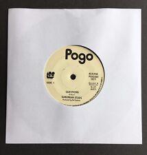 "Suburban Studs - Questions / No Faith 7"" Single - POG 001 Rare Punk Single POGO"