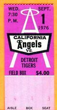 9/1/76 ANGELS/TIGERS TICKET STUB-FRANK TANANA WIN #47