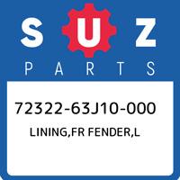 72322-63J10-000 Suzuki Lining,fr fender,l 7232263J10000, New Genuine OEM Part