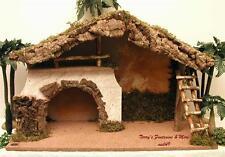 "Fontanini Italy 7.5"" Lrg Unique Italian Wooden Nativity Village Stable 50847 Nib"
