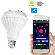 E27 12W LED RGB Bluetooth Speaker Bulb Music Playing Lamp With Remote Control
