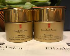 2 Ceramide by Elizabeth Arden Lift and Firm DAY Cream SPF30 0.5 Oz Each