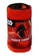 """Star Wars Force Awakens Fleece Throw Blanket 45"""" x 60"""" Red Kylo Stormtroopers"""