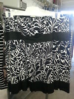 New PORTMANS White and Black patterns Skirt Size 14 BNWT RRP $79.95