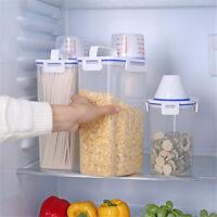 3L Plastic Cereal Dispenser Storage Box Kitchen Food Grain Rice Container set