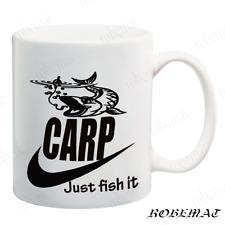 Gift Tea Coffee mugs JUST FISH IT Funny carp Fishing sea fishing carp pike