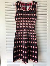 ALAÏA  Azzedine Alaia Pleated Swirl-Pattern Dress NWT $1499 Size L
