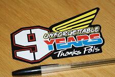 """Nicky Hayden """"9 Years"""" Sticker"""