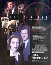 X-FILES SEASON 8 2002 INKWORKS PROMO PROMOTIONAL SALE SELL SHEET TV