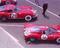 Photograph - Maranello Concessionaires Ferrari team, Le Mans 1966 start line