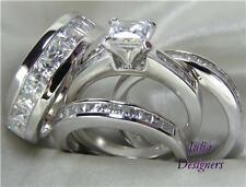 His Hers Engagement Wedding Ring Set, (Women Size 7)