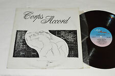 CORPS ACCORD LP 1982 Multi Musique Quebec Canada Sensual Sexual Album MFA-3203