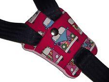 Pink Campervan Buckle Strap Crotch Car Seat Pram Highchair Harness Belt Pad NEW