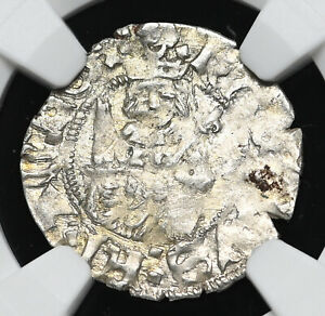 FRANCE. Charles VIII, 1483-1498. Silver Hardi d'argent, NGC MS62