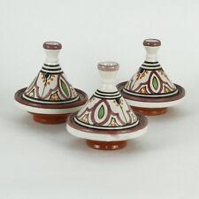 3er-Set Gewürze-Tajine Gewürze Behälter Ton Deko Küche Bunt Orientalisch Marokko