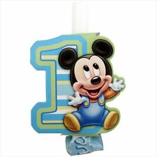 MICKEY MOUSE 1st BIRTHDAY BLOWOUTS (8) ~ First Party Supplies Favors Disney Boy