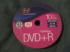 NEW Color Research DVD+R 10-Pack - Brand New Sealed - UPC Removed from Back