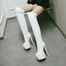 2019 Women Sexy Platform Stiletto Over Knee High Boot Cllubwear High Heel Shoes