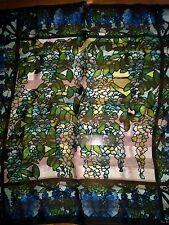 Metropolitan Museum of Art/ silk scarf blue/green's stain glass