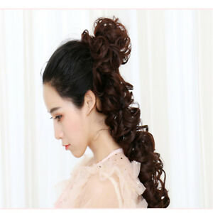 Curly Messy Bun Hair Piece Scrunchie Updo Cover Hair Extensions Hair Ring SK