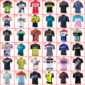 Men Cycling Jersey Bicycle Shirt Summer Quick Dry Short Sleeve Tops Bike Uniform
