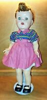 "Vintage 16"" Saucy Walker  doll by Ideal   (W 16)"