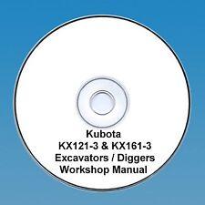 Kubota KX121-3 & KX161-3 Excavator / Digger - Workshop Manual.