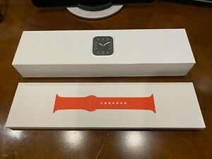 Apple Watch Series 5 44mm Stainless Steel, RED Sport Band, GPS + Cellular, MINT