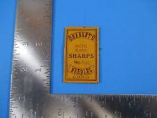 Vintage Brabant's Nickel Plated Sharps 5/10 Needles Redditch England S4112