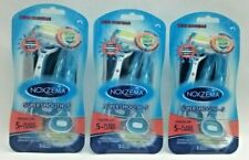 3Pk NEW Noxzema Super Smooth ~ 5 Premium Blade Lames Perfect Pivot Razor Shavers