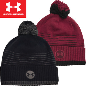 UNDER ARMOUR UNDENIABLE FLEECE BOBBLE / THERMAL WINTER GOLF HAT / 2021 MODEL