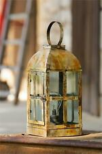 Led Rusty Gray distressed tin accent Lantern