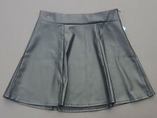Faux black leather mini skirt skating Maurices vegan goth cosplay fetish Size M