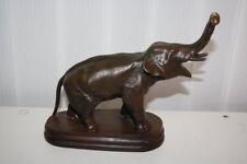 "Bronze Skulptur Figur ""Elefant"", Höhe 21cm,Länge 23cm   /#940"