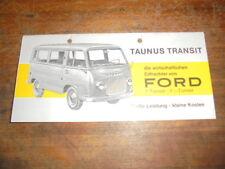 Prospekt Sales Brochure Ford Taunus Transit FK 1000 / 1250 Auto Car Fahrzeug