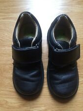 Stride Rite TT Boys Casual H&L Black Leather Shoes 11.5M