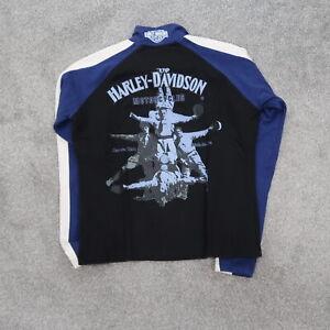 Harley-Davidson Motorcycle 1/4 Zip Sweatshirt Women's Large