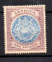 Antigua KEVII 1908 1/- blue and dull purple mint MH SG49 WS20644