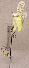"Rain Gauge Yellow Angel NEW metal with glass tube measures 7"" - 17.8 cm"