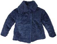NEW DIESEL Kids RRP £219 Designer Jammi Giacca Girls Fur Jacket Coat AGE 4